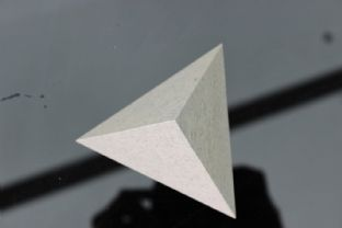 White Spiritual Awakening Purification 3 Sided Triangular Tetrahedron Pyramid